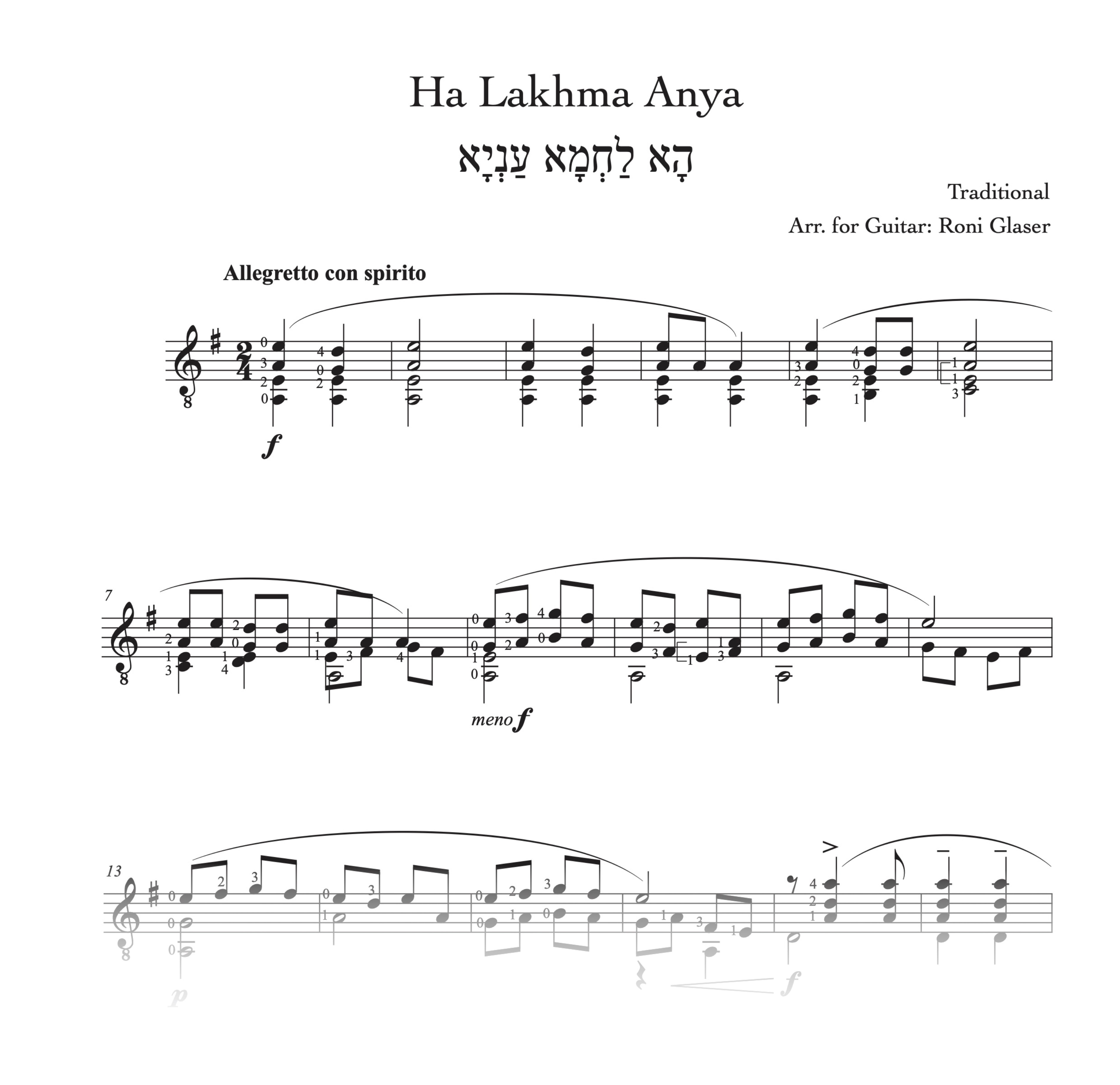 Ha Lakhma Anya Score